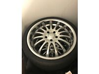 Alloy wheels ,rims Team Dynamics Equinox 19 inch,120.6 x 5 ,these fit jaguar and should fit BMW