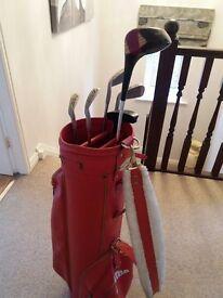 Ben Sayers Top Scot Golf Clubs (Half Set) and Prima Golf Bag and Balls