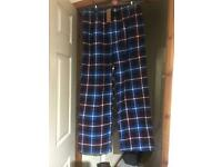 BRAND NEW WITH TAGS SIZE LARGE BLUE CHECKED LOUNGE PANTS