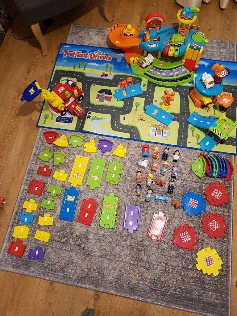 VTech Toot Toot Drivers Garage, Airport, Vehicles, Deluxe Track, Fire Engine, Playmat