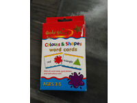 Colours and Shapes Word Cards ages 3-5