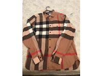 BURBERRY MENS FRANEL SHIRT SIZE L