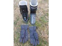 Ski Boots Salomon SX92, Skis and holder, Ski poles, gloves (Vintage)