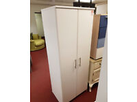 Normandy 2 door wardrobe -white