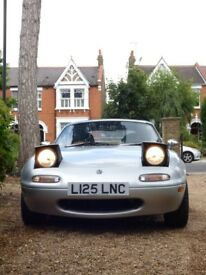 Lovely, classy car. Increasingly rare Mark 1, Eunos. Same owner for 11 years.