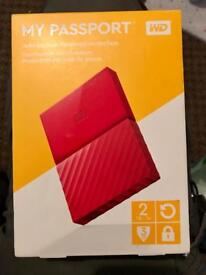 WD 2T MY PASSPORT EXTERNAL HDD BRAND NEW SEALED