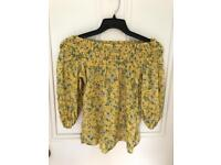 Off shoulder Florence and Fred top size 10