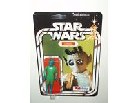 VINTAGE STAR WARS/EMPIRE STRIKES BACK/RETURN OF THE JEDI/GREEDO ON 20 BACK PALITOY REPRO CARD.
