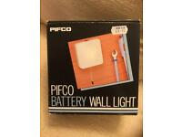 Retro Pifco Battery Wall Light (Unused as New in Box with Instructions)