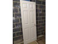 White Internal 6 panel doors incl furniture