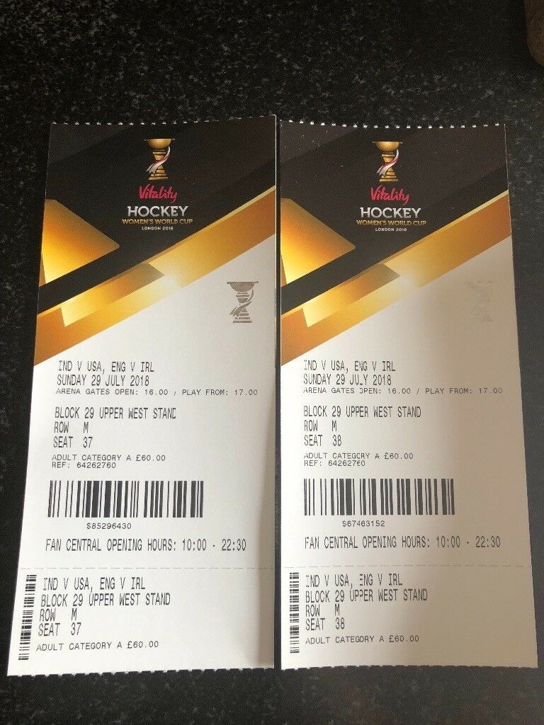 203663689 2 x World Cup Hockey watching England. 29th July