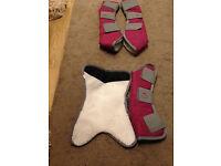 Pink Weatherbeeta Travel Boots
