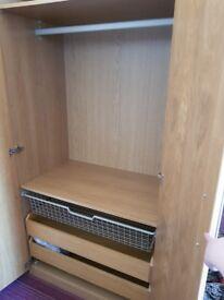 Ikea double wardrobe like new £60