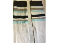 "Next Pleated Panel Teal Lined Curtains, Size 53"" x 90"" (135x229cm), Good Condition"
