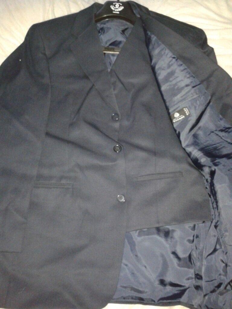 Mens Ciro Citterio 3 Piece Dark Blue Suit