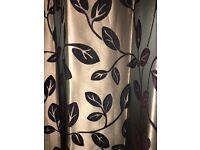 John Lewis patterned eyelet curtains