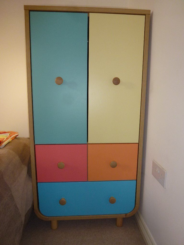 Mothercare Carnaby Tallboy - Colourful Compact Nursery Wardrobe