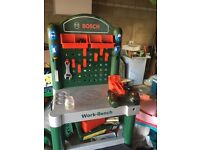 Bosch toy workstation from ELC, with tools