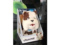 Churchill stuffed dog brand new boxed