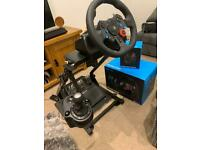 Logitech G29 Gaming Wheel and GT Omega Stand PS3 PS4 PS5