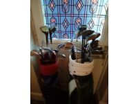 Golf clubs with bags for sale