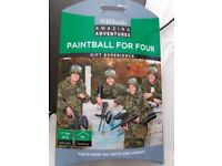 WHSmith Amazing Adventures Paintballing for 4 (Valid until 1st Dec 2018)