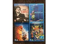 Blu Ray Bundle - Scarface, Monsters Inc, The Lion King and Toy Story 3