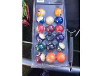 Pool snooker table balls