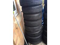 Mini steel wheels with get home tyres 175/65R15 4 stud wheels ideal as spare wheel 8 of £25 each