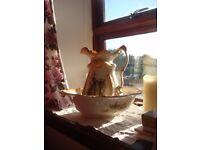 Victorian jug and washbowl