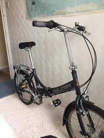 OFFERS Raleigh folding bike (Santa Cruz bike mtb trek orange)