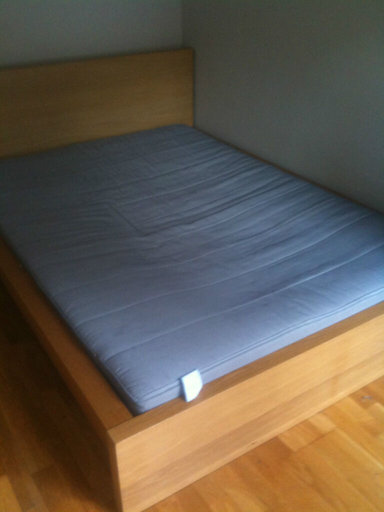 King size bed frame ikea malm images - Contemporary bedroom decoration using ikea malm queen bed frame ...