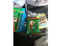Travel accessories (repellent and travel pills)