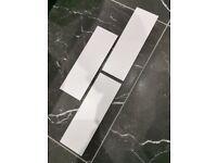 3m2 10cm x 30cm Matt White metro style tiles