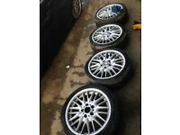 Bmw MV1 18 inch alloys with good tyres