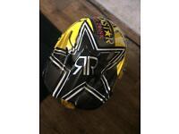 Motocross rockstar helmet with goggles