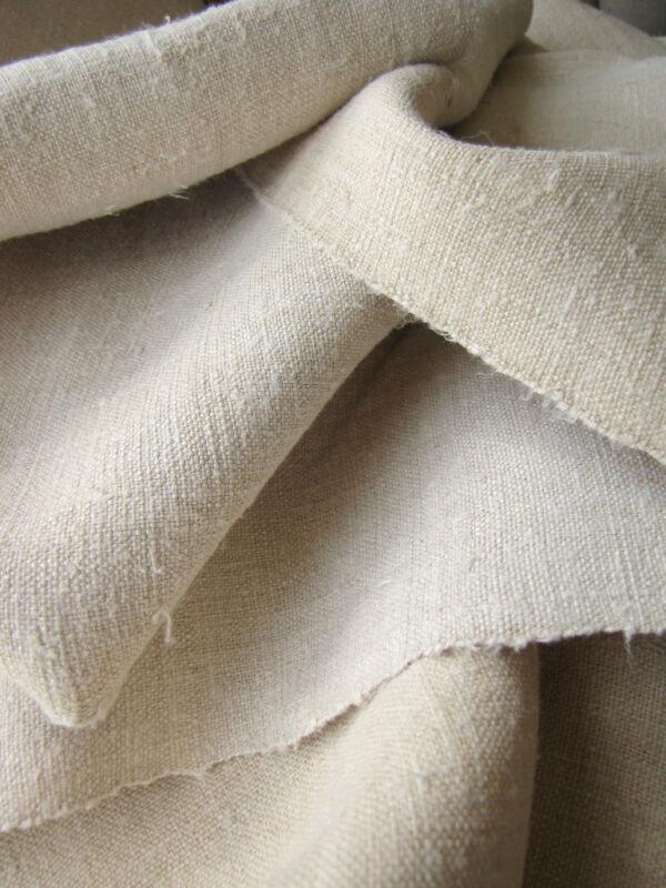 Antique hemp linen upholstery fabric 12.2yx25 homespun