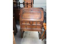 Solid oak writing bureau FREE DELIVERY PLYMOUTH AREA