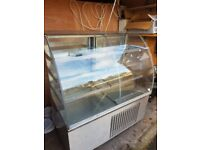Commercial Curved Glass 3 Shelf Fridge Display Cabinet