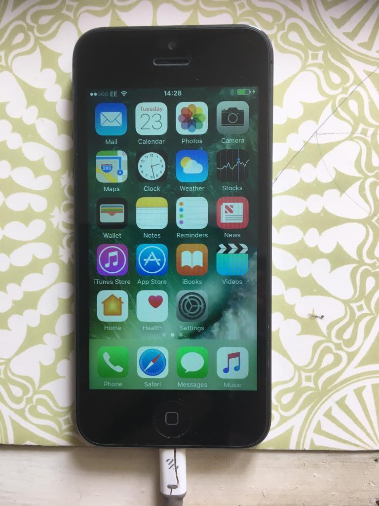 iPhone 5 16gb on EE in mint conditionin Llanrumney, CardiffGumtree - iPhone 5 16gb on EE in mint condition and fully working comes with box and charging cable only
