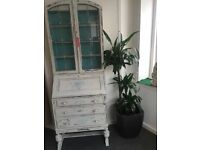 DISPLAY CABINET WITH BUREAUX UNDER, A TRUE BEAUTY SHABBY CHIC QUALITY BUILT