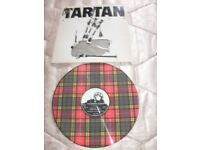 """A TARTAN """"VARIED"""" SCOTTISH DANCE BANDS ARTISTS ,12.INCH LP.MADE INTO AN ATTRACTICE CLOCK-M"""