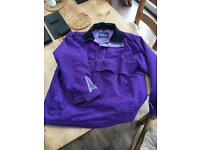 Shires equestrian purple fleeced lined coat, medium