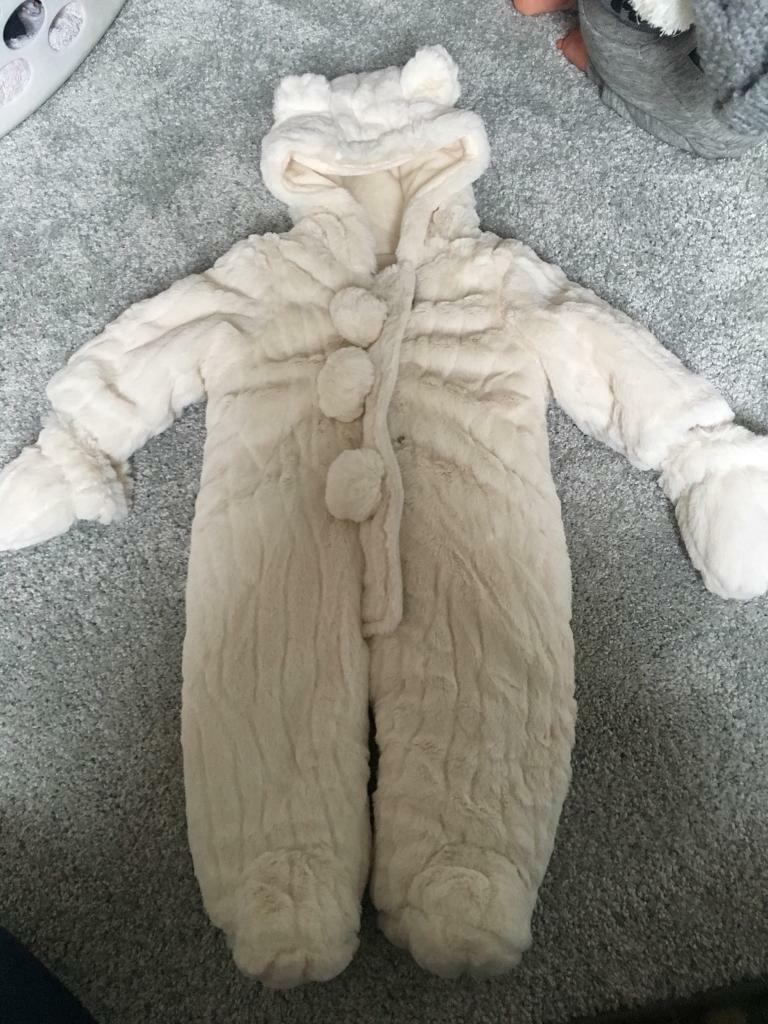 Baby snowsuit/hand knitted outfits