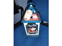 Christmas lantern,large gorgeous colourful lantern with decorated glass panels