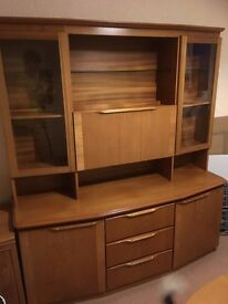 Beautiful solid teak sideboard with drinks cabinet