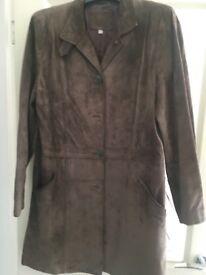 Size 12 ladies brown suede coat