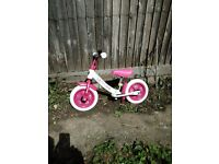 Balance Bike - white & pink