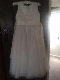 Off White RJR Girls Bridesmaid Dress