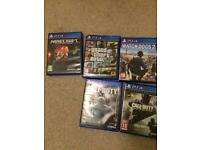 PS4 GAMES BEARLY BEEN USED CHEAP